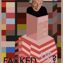 Facked up, affisch för påhittat evenemang om diskriminering i samhället.