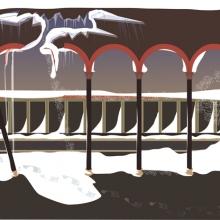 Scen IV, naturen regerar, giclée, 45 x 35 cm