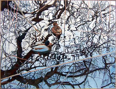 En andan värld, olja på pannå, 50 x 40 cm
