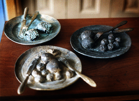 Sista måltiden, brons.  Last supper, sculptures in bronze, cire perdue, the artists own casting.