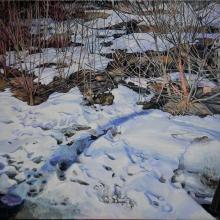 Våren, tempera på duk , 106 x 90 cm