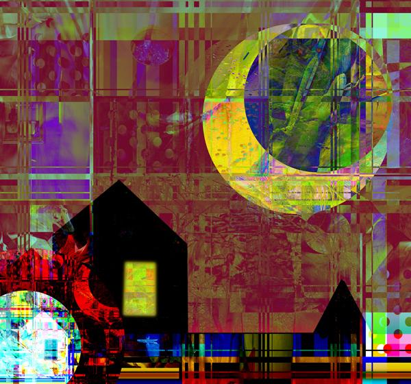 Kosmiskt kaos, giclée, 45 x 47 cm