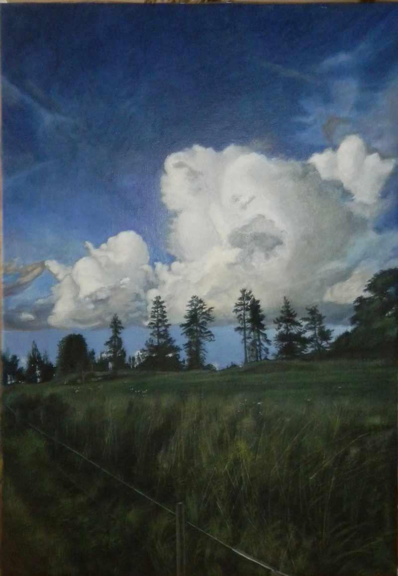 I döda poeters sällskap, tempera på duk, 83 x 120 cm