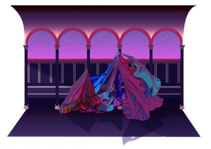 Scen I, absense, giclée, 45 x 35 cm