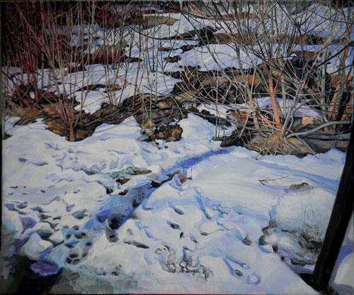 Våren, 106 x 90, tempera på duk, 2012