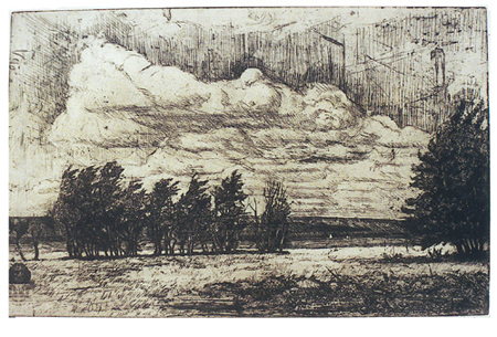 Alnön, hårdgrundsetsning, 1986