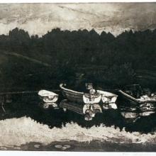 Småbåtshamnen, akvatintetsning, 1986