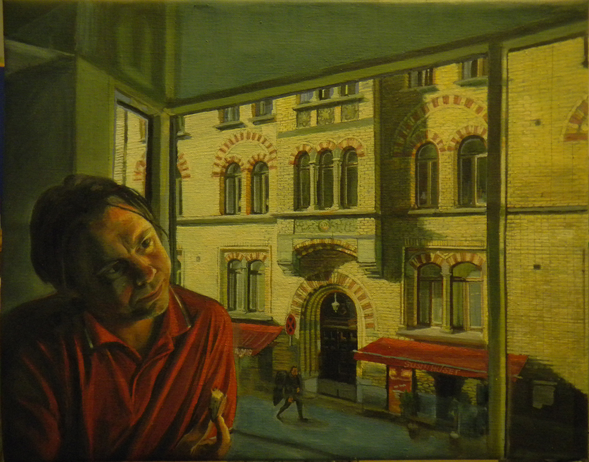En bit bröd, tempera på duk, 53 x 41 cm, 2012