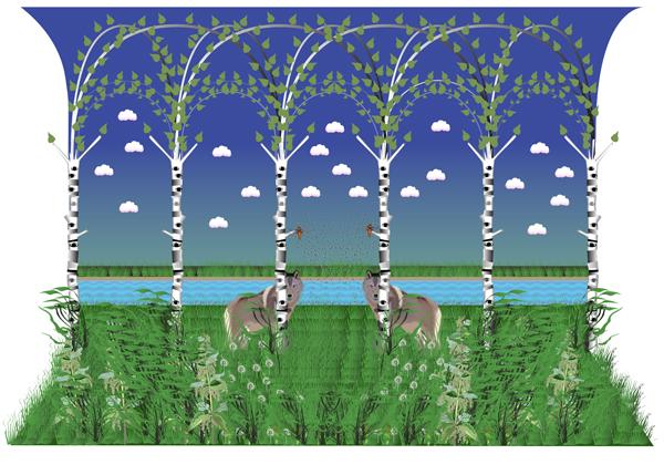 Scen II, onaturlig natur, giclée, 45 x 35 cm