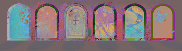 Målarens palats, höst, giclée, 45 x 17 cm