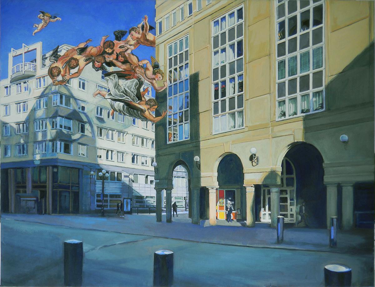 Stulna änglar, tempera på duk, 103 x 78 cm